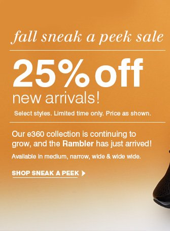 Click here to Sneak a Peak Sale.