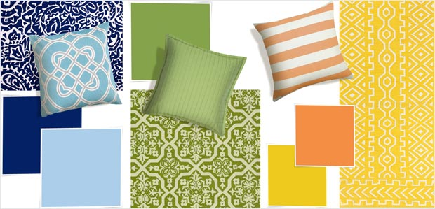 Color Love: Rugs & Pillows in Trending Tones