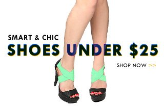 Shop Shoes under $25!