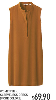 WOMEN SILK SLEEVELESS DRESS