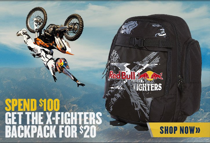 Get The X-Fighters Backpack for $20 with $100 Purchase