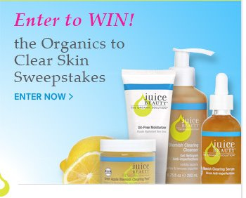 Enter to WIN!  the Organics to Clear Skin Sweepstakes