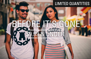 Limited Quantities: $9.99 & Under