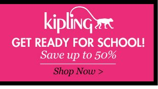 Save up to 50% on Kipling Backpacks. Shop Now >