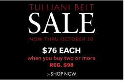 TULLIANI BELT SALE | SHOP NOW