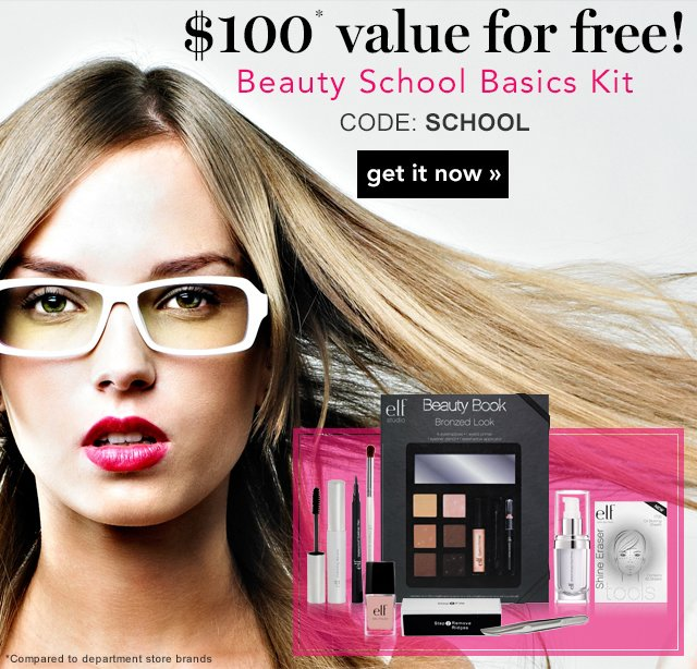 Use Code: SCHOOL for a $100 value for free