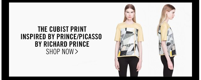 THE CUBIST PRINT INSPIRED BY PRINCE/PICASSO BY RICHARD PRINCE - SHOP NOW >