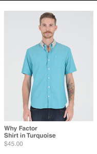 Why Factor Shirt in Turquoise