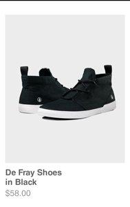 De Fray Shoes in Black