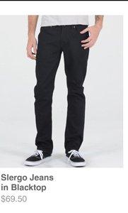 Slergo Jeans in Blacktop