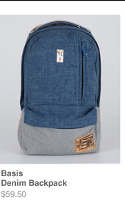 Basis Denim Backpack