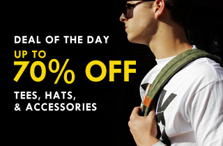Tees, Hats, and Accessories up to 70% Off