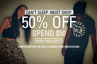Can't Sleep. Must Shop. 50% Off, Spend $50