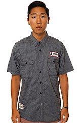 The Shop Buttondown Shirt in Grey Seersucker