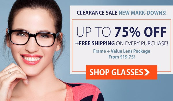Clearance: Up to 75% OFF + Free Shipping!