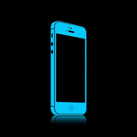 iGlow for iPhone 5 // Vivid Blue