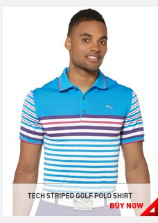 TECH STRIPED GOLF POLO SHIRT BUY NOW »