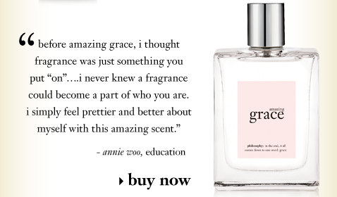 before amazing grace, i thought fragrance was just something you put