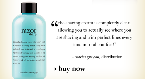 the shaving cream is completely clear allowing you to actually see where you are shaving and trim perfect lines every time in total comfort!
