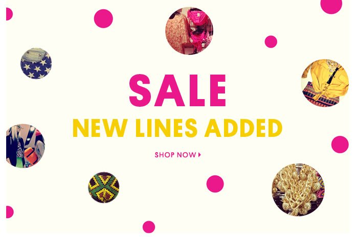 Sale, new lines added - Shop now