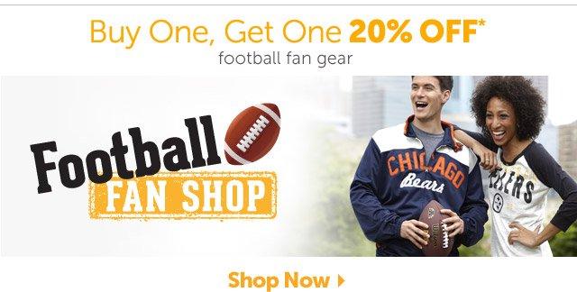 Buy One, Get One 20% OFF* football fan gear - Shop Now