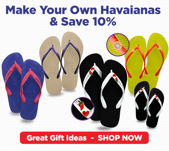 Make Your Own Havaianas & Save 10%!