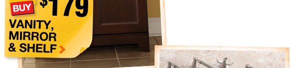 $179 Vanity, Mirror & Shelf