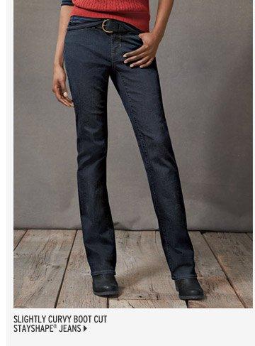 Slightly Curvy Boot Cut Jeans - StayShape®
