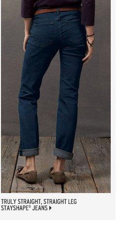 Truly Straight Jeans Straight Leg - StayShape®