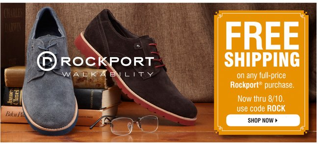 Free Ship on Rockport Shoes