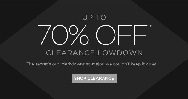 Up To 70% Off* Clearance Lowdown