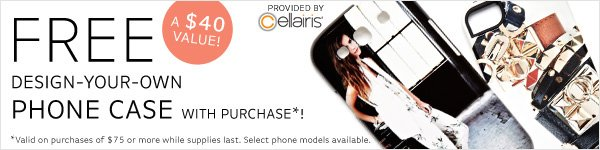 Free Design-Your-Own Phone Case with Purchase!