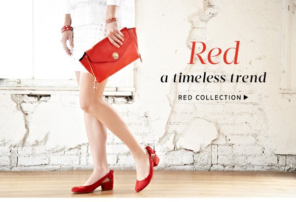 Red: a timeless trend. Shop Red Collection