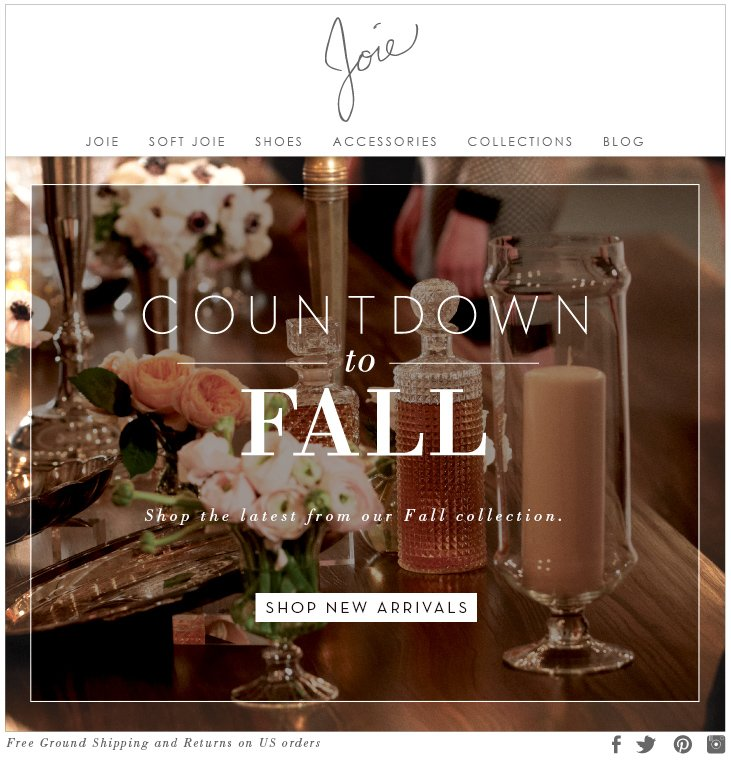 COUNTDOWN TO FALL Shop the latest from our Fall collection SHOP NEW ARRIVALS