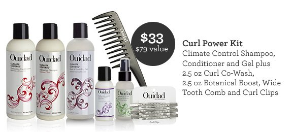Climate control shampoo, conditioner and gel plus 2.5oz Curl Co-Wash, 2.5oz Botanical Boost, Wide Tooth Comb and Curl Clips.