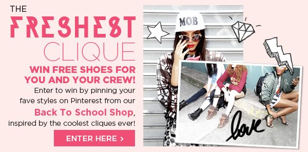 Enter to win Free Shoes for you and your crew!
