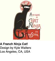 A French Ninja Cat