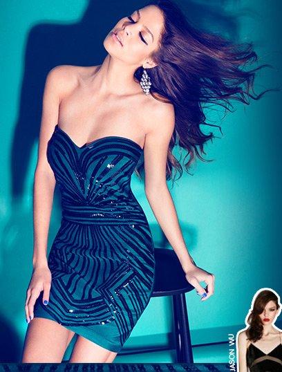 Embellished Bandeau Dress