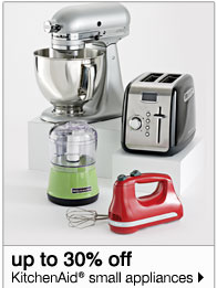 15-30% off KitchenAid® small appliances