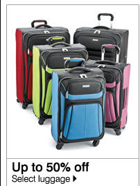 Up to 50% off Select luggage