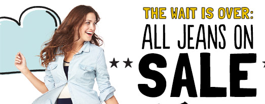 THE WAIT IS OVER: ALL JEANS ON SALE