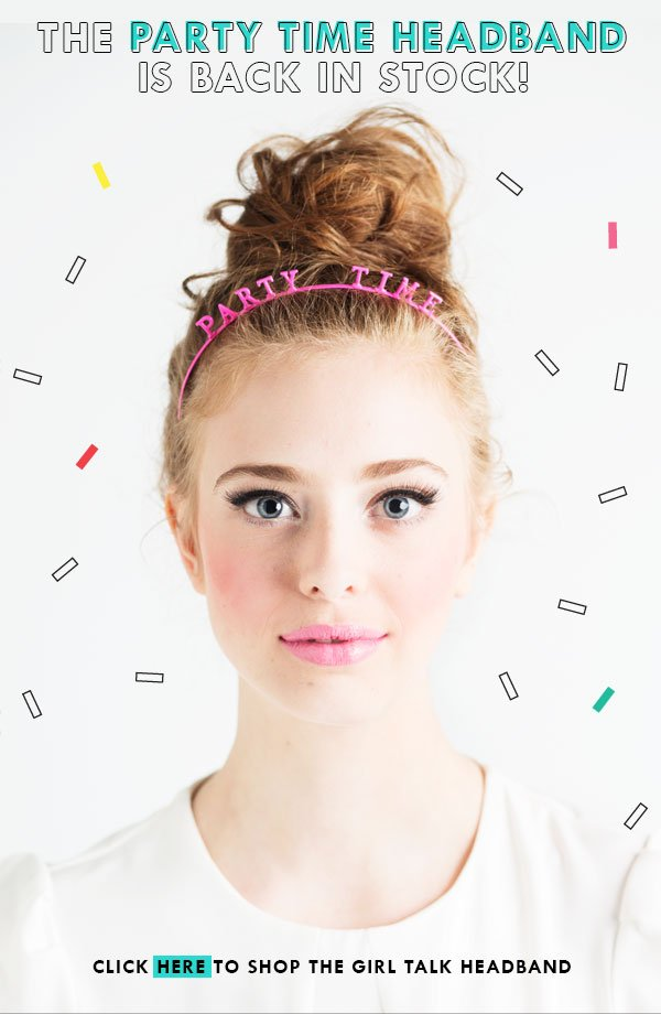 ban.do party time headband in stock