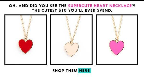 ban.do supercute heart necklace