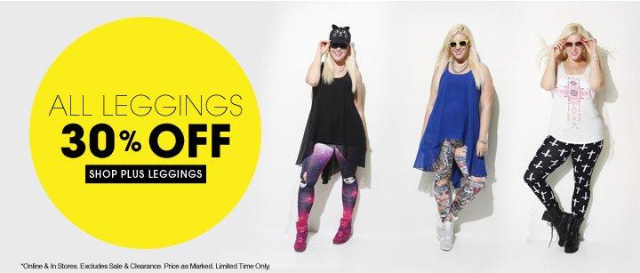 Shop 30% OFF All Plus Leggings