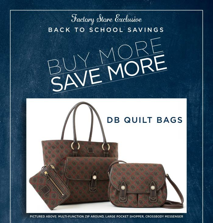 Factory Store Offer Buy More, Save More - DB Quilt Bags