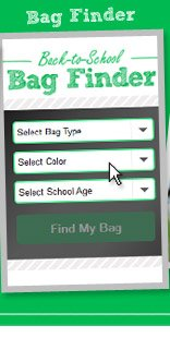 Try our Bag Finder