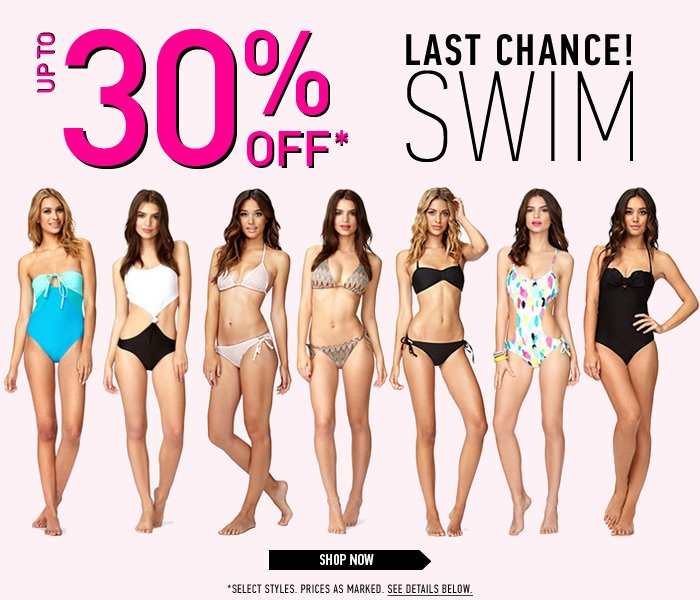 Last Chance - Up to 30% Off Swim! - Shop Now