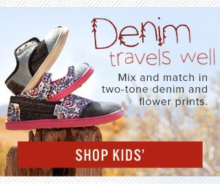 Denim travels well - Shop Kids'
