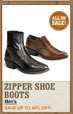 All Zipper Shoe Boots on Sale