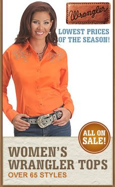 All Womens Wrangler Shirts on Sale